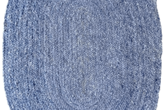PET KILIM-Blue-Oval